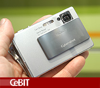 Sony Cybershot DSC T7 digital camera preview | CeBIT 2005